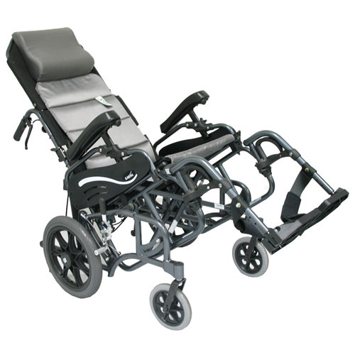 18 x 16 Inch, Tilt-In-Space Lightweight Foldable Wheelchair, 14 Inch Rear Wheels, Karman