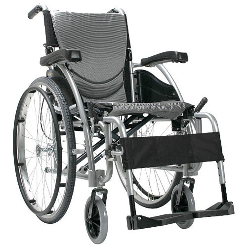 20 x 17 Inch, Ergonomic High Strength Extra Wide Wheelchair, K0004/K0005, Fixed Arms & Swing-away Footrests, Silver Frame, Karman