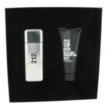 212 Vip Cologne for Men Gift Set (Eau De Toilette Spray & Shower Gel), 1 Set, Carolina Herrera