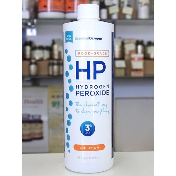 Food Grade HP, Hydrogen Peroxide 3% USP, 16 oz, Essential Oxygen