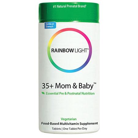 35+ Mom & Baby Pre- & Postnatal Food-Based Multivitamin, 60 Tablets, Rainbow Light