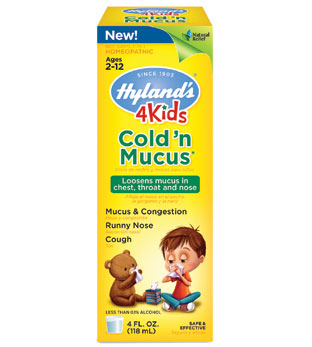 4 Kids Cold N Mucus, Natural Relief for Children, 4 oz, Hylands