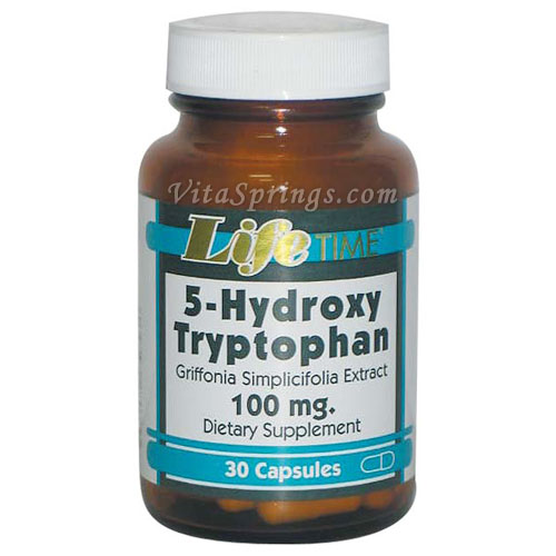 5-HTP 100 mg (5-Hydroxy Tryptophan), 30 Capsules, LifeTime