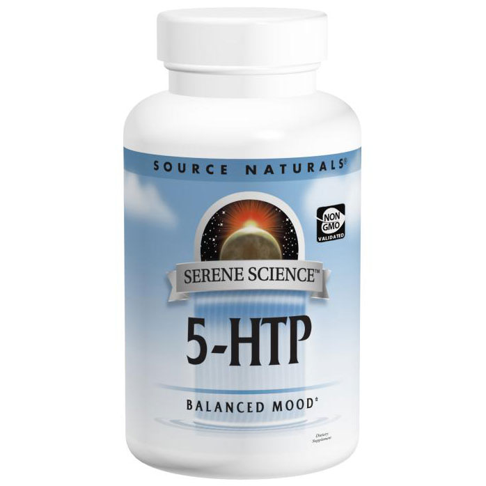 5-HTP 200 mg, Serene Science, 60 Capsules, Source Naturals