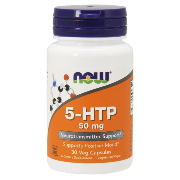 5-HTP 50 mg 5-Hydroxy-L-Tryptophan, 30 Capsules, NOW Foods