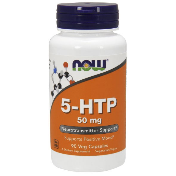 5-HTP 50 mg 5-Hydroxy-L-Tryptophan 90 Caps, NOW Foods