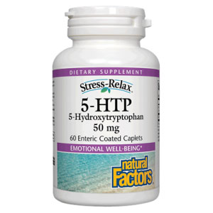 5-HTP 50mg 60 Caplets, Natural Factors (Vitamins Supplements - 5-HTP)