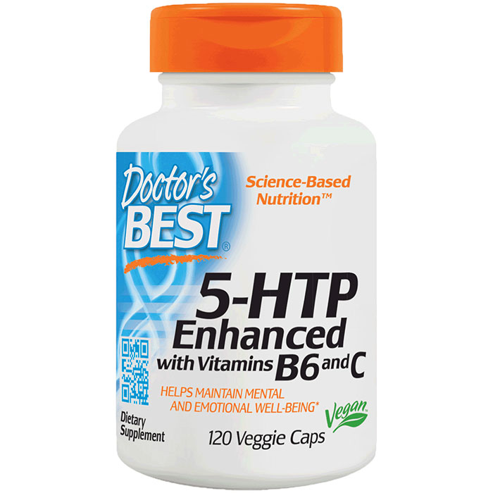 5-HTP Enhanced with Vitamin B6 & C, 120 Veggie Caps, Doctors Best