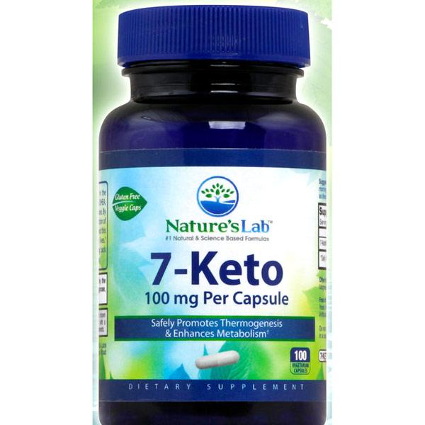 7-Keto 100 mg, 100 Vegetarian Capsules, Natures Lab