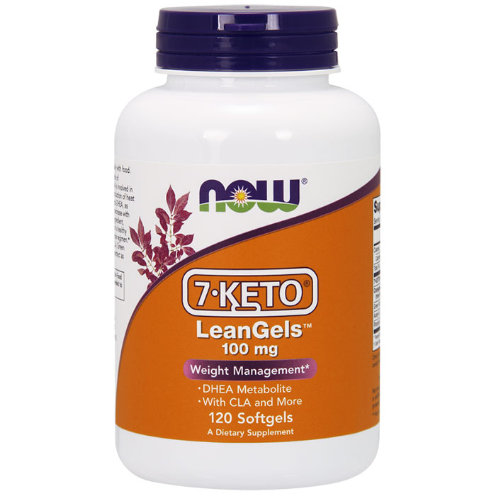 7-Keto LeanGels 100 mg, Plus CLA & More, 120 Softgels, NOW Foods