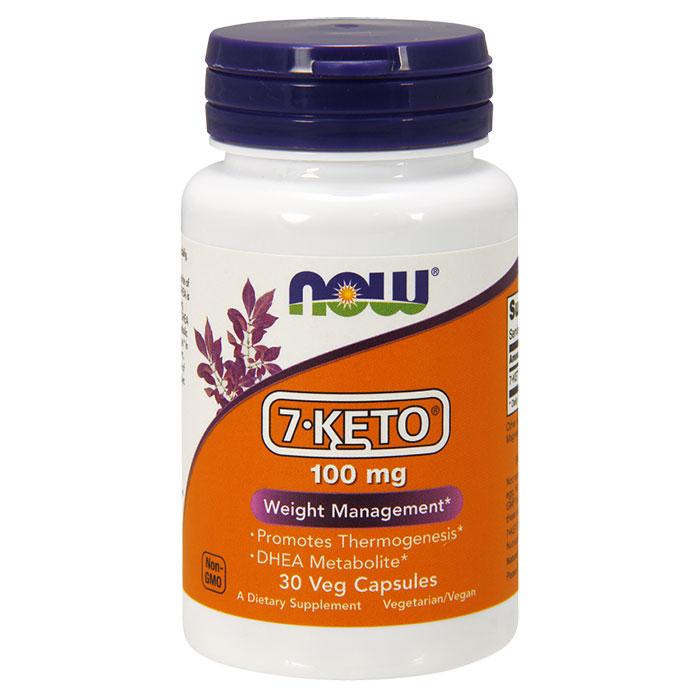 7-Keto 100 mg, 30 Vegetarian Capsules, NOW Foods