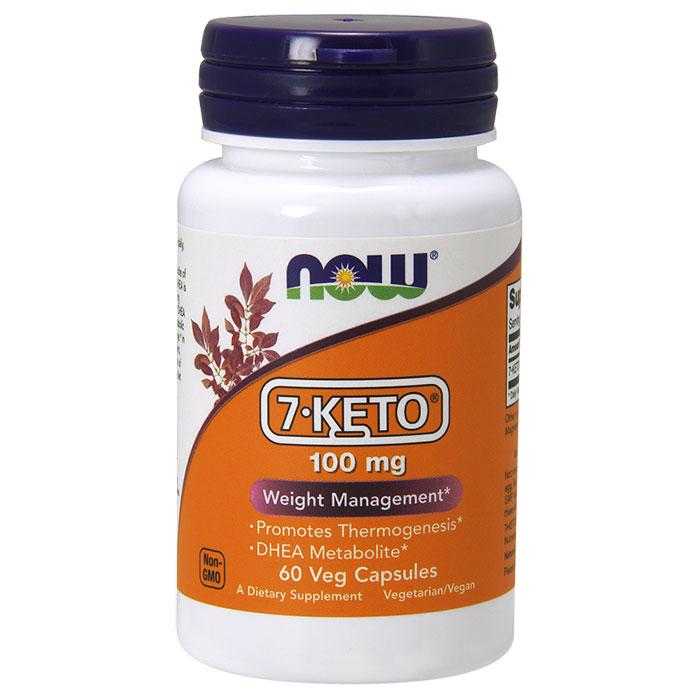 7-Keto 100 mg, 60 Vegetarian Capsules, NOW Foods