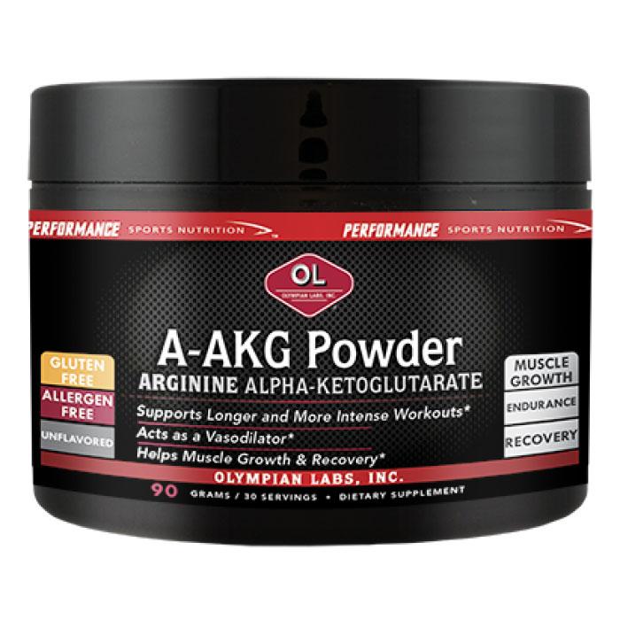 A-AKG Powder 30 Servings, 90 g, Olympian Labs