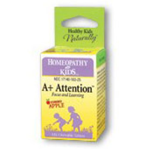 A+ Attention, Focus & Learning (A Plus Attention), 125 Chewable Tablets, Herbs For Kids