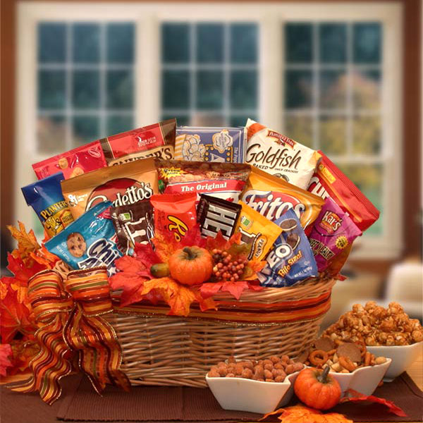 A Fall Snack Attack Gift Basket, Elegant Gift Baskets Online