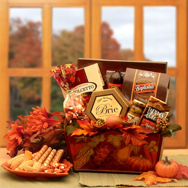 A Gourmet Fall Harvest Fall Gift Basket, Elegant Gift Baskets Online