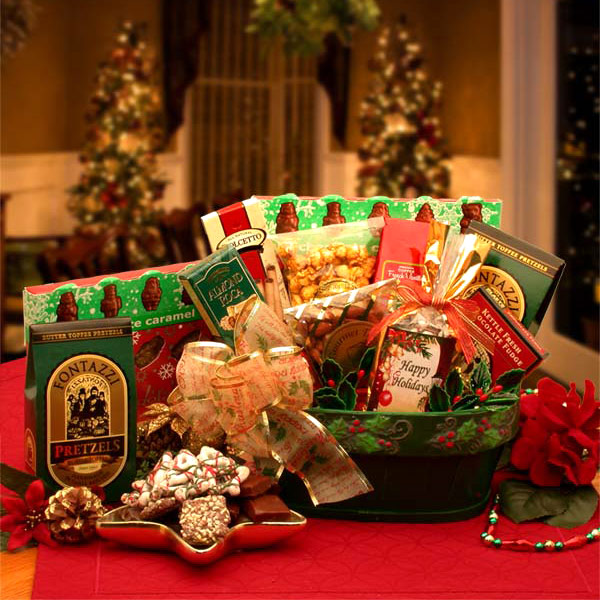 A Merry Christmas Greeting Gift Basket, 1 Set, Elegant Gift Baskets Online