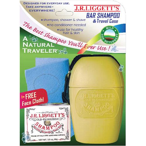 A Natural Traveler Kit, Bar Shampoo & Travel Case, 1 Kit, J.R. Liggett's