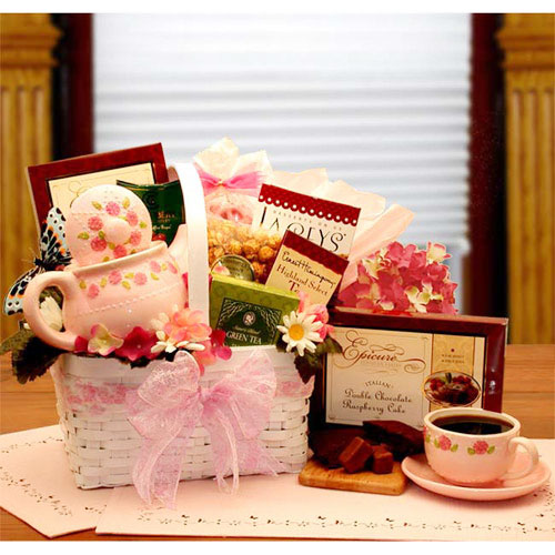 A Tea Lovers Little Tea Pot Gift Set, Elegant Gift Baskets Online