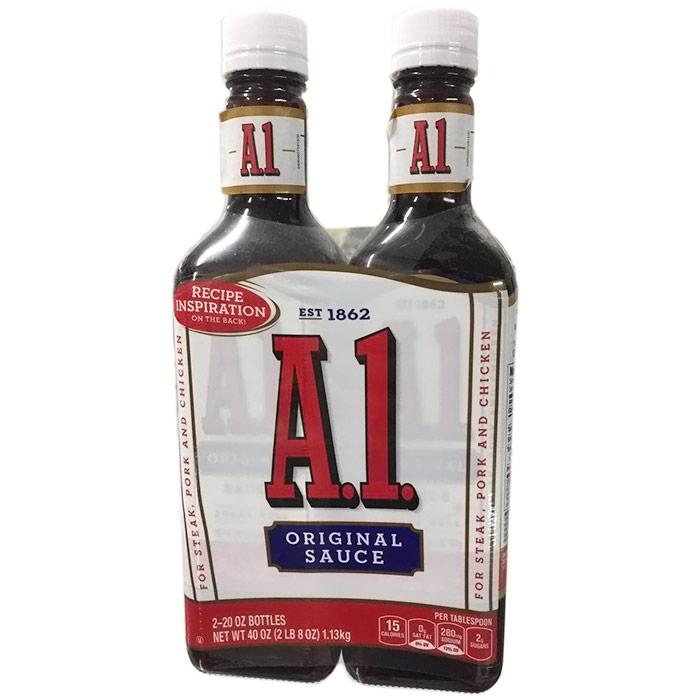 A1 Original Sauce for Steak, Pork & Chicken, 20 oz x 2 Bottles