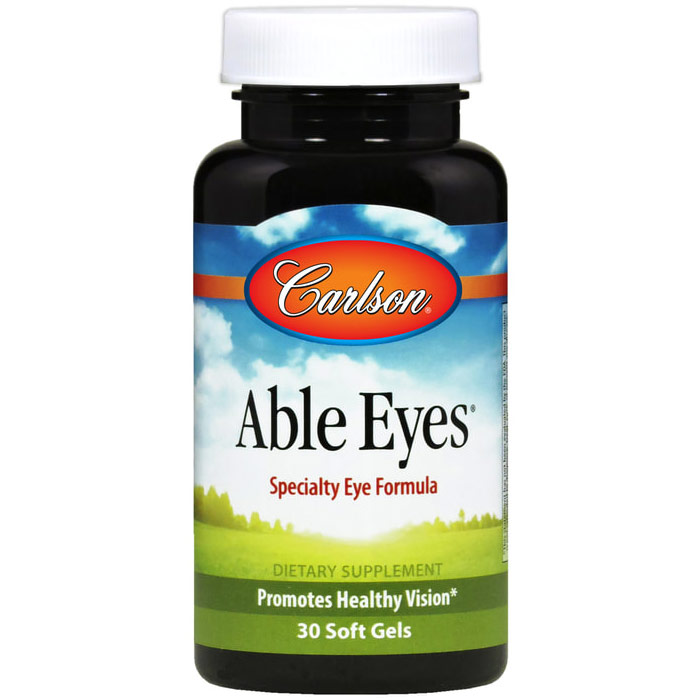Able Eyes, Vital Nutrients for Eyes, 60 Softgels, Carlson Labs