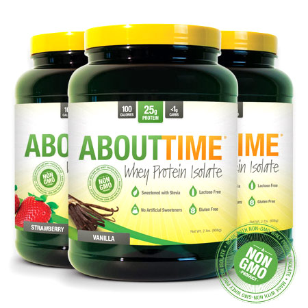 About Time Whey Protein Isolate, Unflavored, 2 lb, SDC Nutrition
