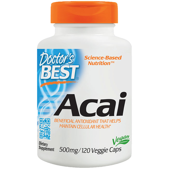 Acai 500 mg, 120 Veggie Caps, Doctors Best