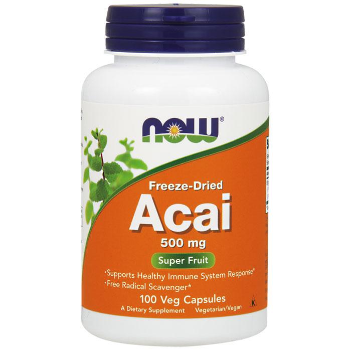 Acai 500 mg, Freeze-Dried, 100 Vegetarian Capsules, NOW Foods