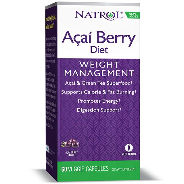 Image of AcaiBerry Diet, Acai Berry & Green Tea Complex, 60 Capsules, Natrol