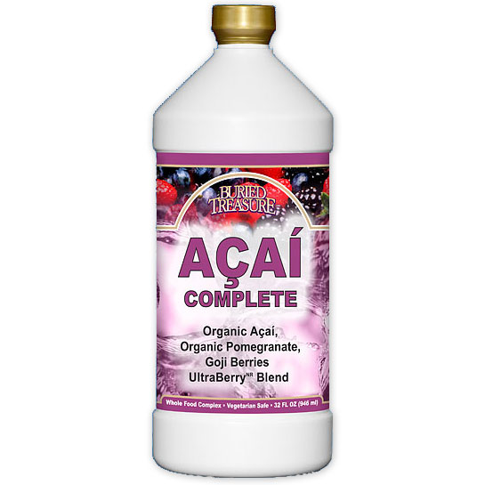 Acai Complete, Fruit Complex Liquid, 32 oz, Buried Treasure Liquid Nutrients