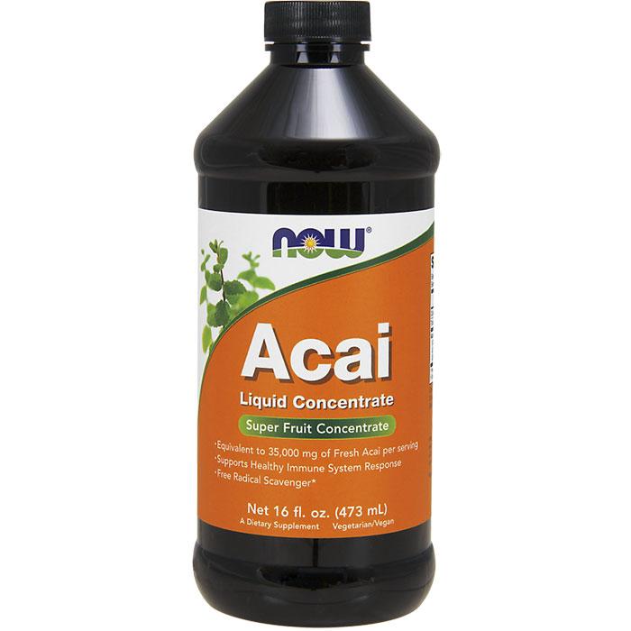 Acai Liquid Concentrate, Super Fruit Concentrate, 16 oz, NOW Foods