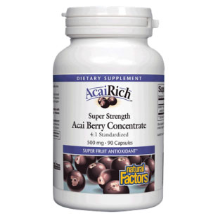 AcaiRich Acai Berry Concentrate 500 mg, 90 Capsules, Natural Factors