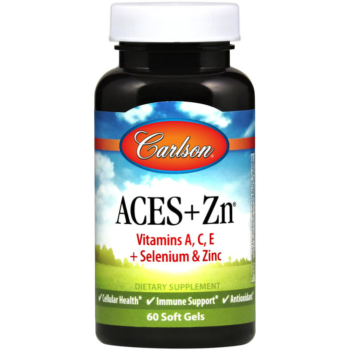 ACES + Zn, A, C, E, Selenium Plus Zinc, 180 softgels, Carlson Labs