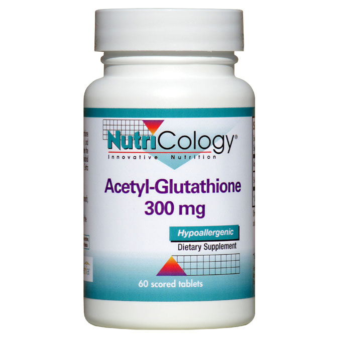 Acetyl-Glutathione 300 mg, 60 Tablets, NutriCology