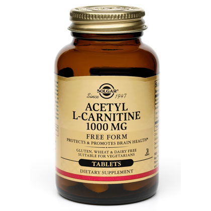Acetyl L-Carnitine 1000 mg, 30 Tablets, Solgar