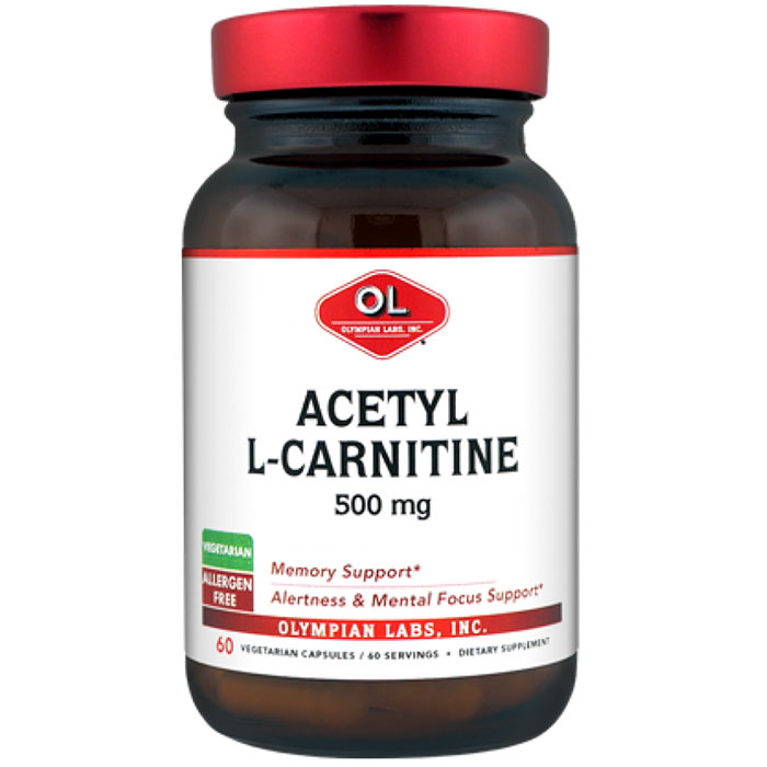 Acetyl L Carnitine 500mg, 60 Capsules, Olympian Labs
