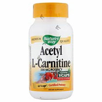 Acetyl L-Carnitine ALC 500mg 60 vegicaps from Natures Way