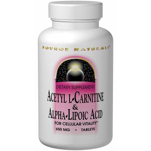 Acetyl L-Carnitine & Alpha-Lipoic Acid, Value Size, 240 Tablets, Source Naturals