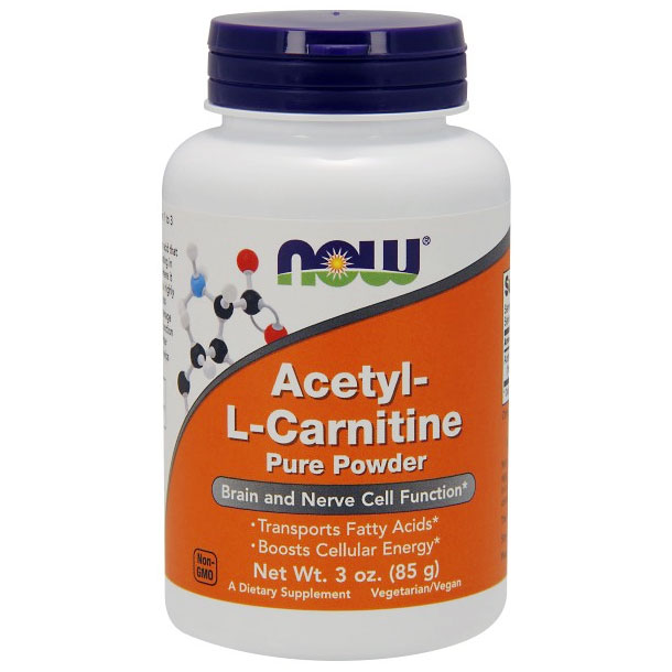 Acetyl-L-Carnitine Powder, ALC Powder 3 oz, NOW Foods