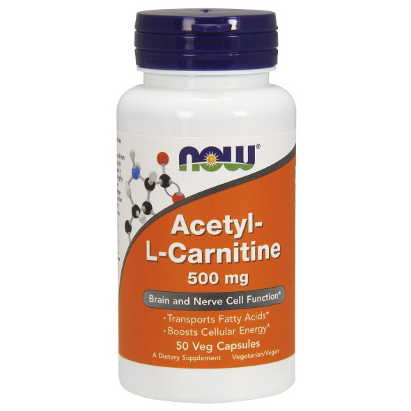 Acetyl-L Carnitine 500 mg 50 Caps (Acetyl L-Carnitine), NOW Foods