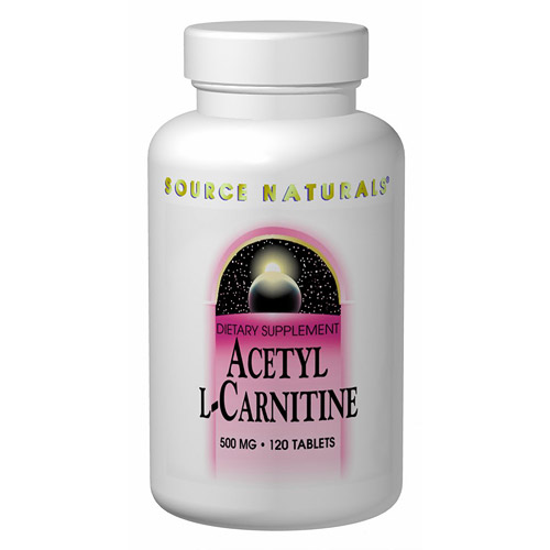 Acetyl L-Carnitine (ALC) 500mg 30 tabs from Source Naturals