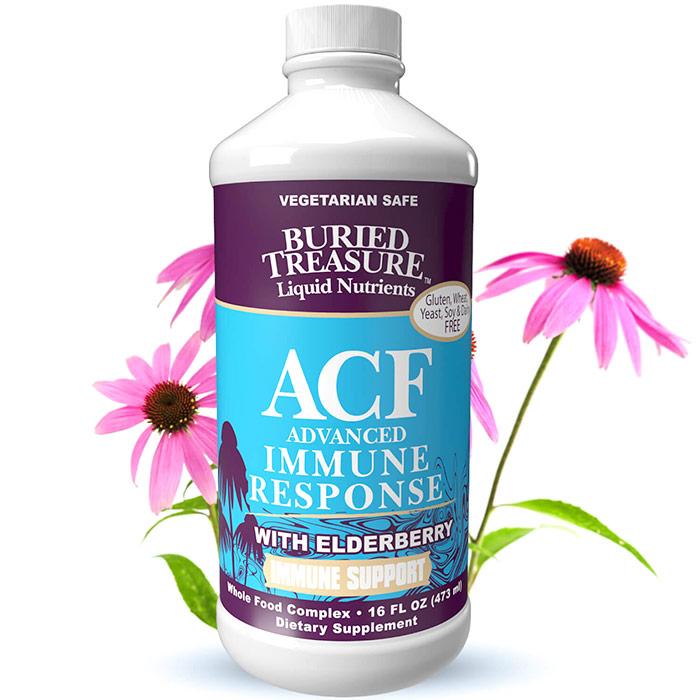 ACF, Immune Support Liquid Supplement, 16 oz, Buried Treasure Liquid Nutrients