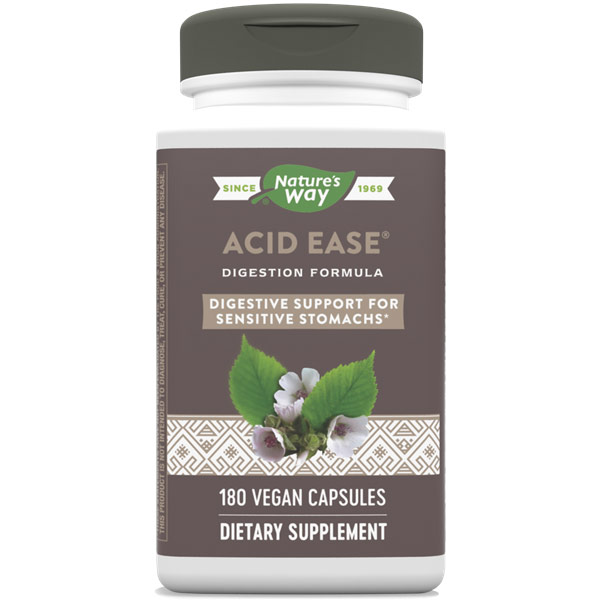 Acid Ease, Value Size, 180 Veg Capsules, Enzymatic Therapy