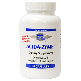 Acida-Zyme (Betaine HCI & Pepsin), 90 Capsules, Progressive Laboratories