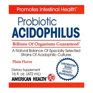Acidophilus Liquid (Acidophilus Culture), Plain 16 oz from American Health