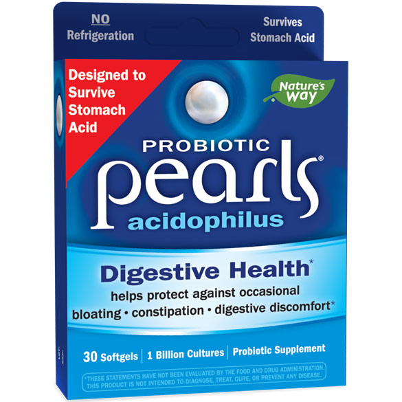 Acidophilus Pearls, 30 Capsules, Enzymatic Therapy
