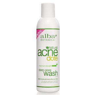 Natural Acnedote Deep Pore Wash, Acne Facial Cleanser, 6 oz, Alba Botanica