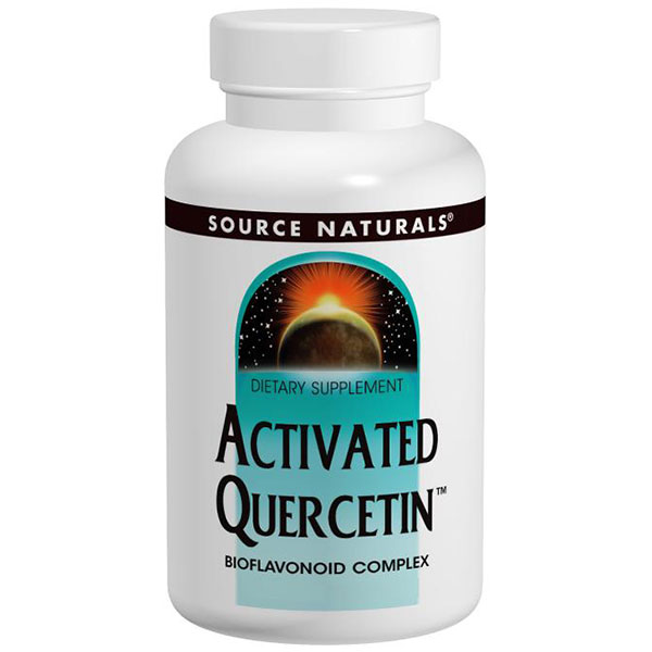 Activated Quercetin (Nonallergenic Bioflavonoid Complex) 50 tabs from Source Naturals