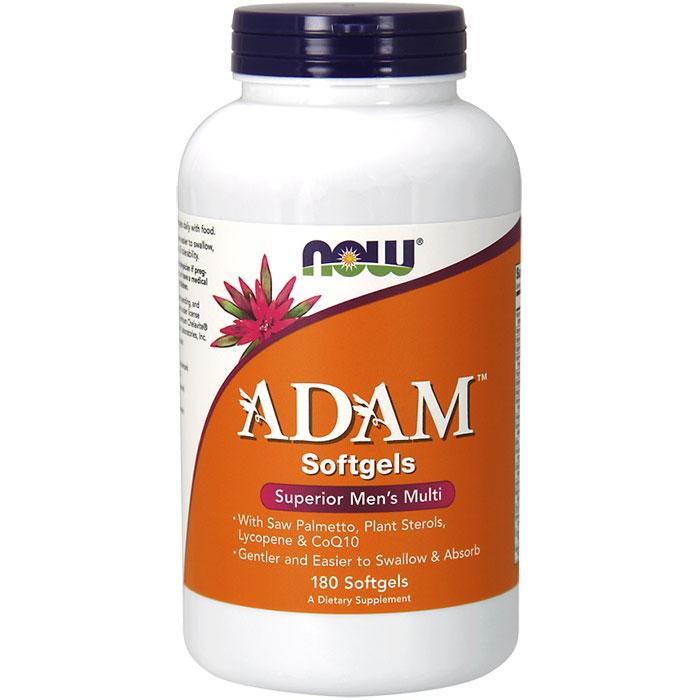 ADAM Softgel, Superior Mens Multi Vitamin, Value Size, 180 Softgels, NOW Foods