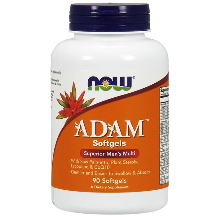 ADAM Softgel, Superior Mens Multiple Vitamin, 90 Softgels, NOW Foods